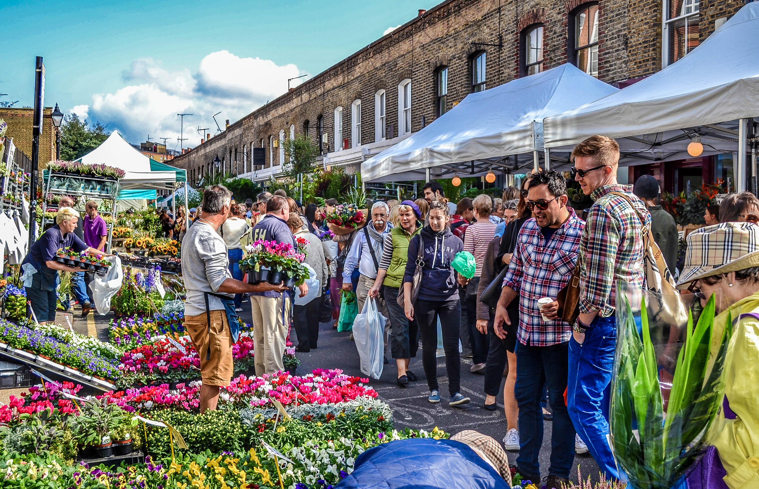 Columbia Road Market, Le plus grand marché aux fleurs de Londres