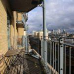 Terrasse et vue d'un logement en colocation à Limehouse