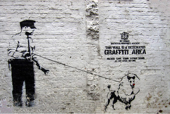 œuvres de Banksy Graffiti Area