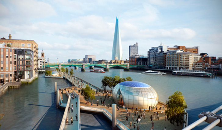 promenade London bridge tamise