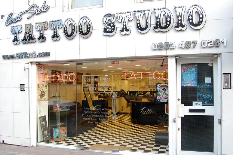 Les salons de tatouages de Shoreditch et Bricklane