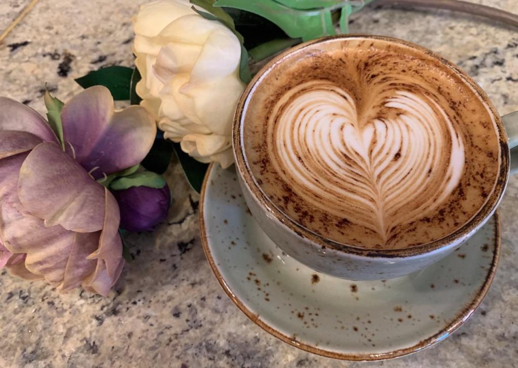 café - coeur - Italie - fleur