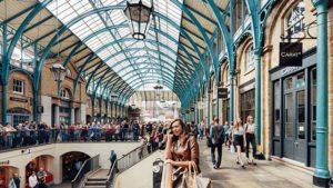 Image d'une foule dans le marché de convent garden