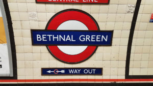 Vivre à Bethnal Green : Station de métro