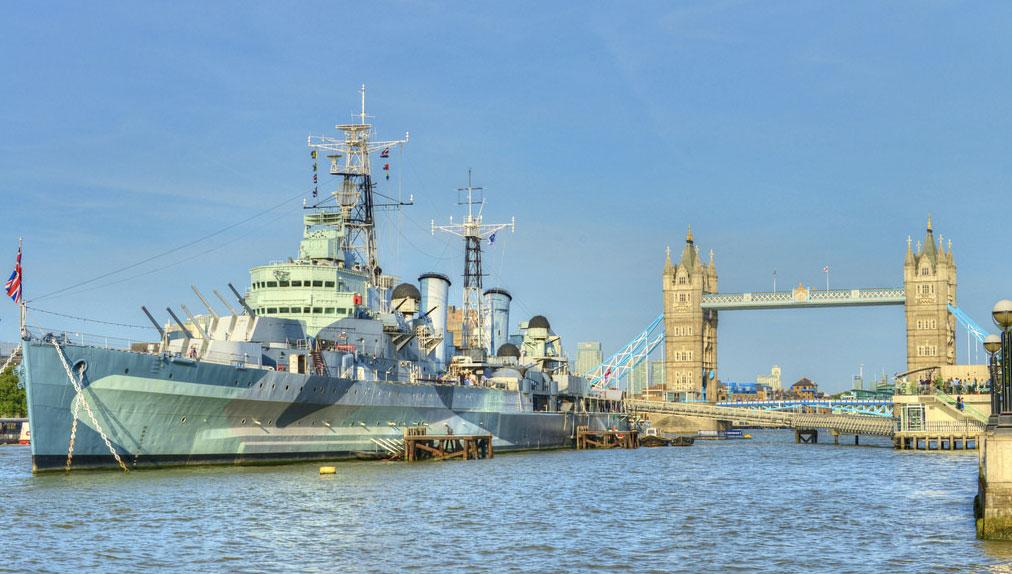 Vivre à Southwark : Image représentant le croiseur HMS Belfast