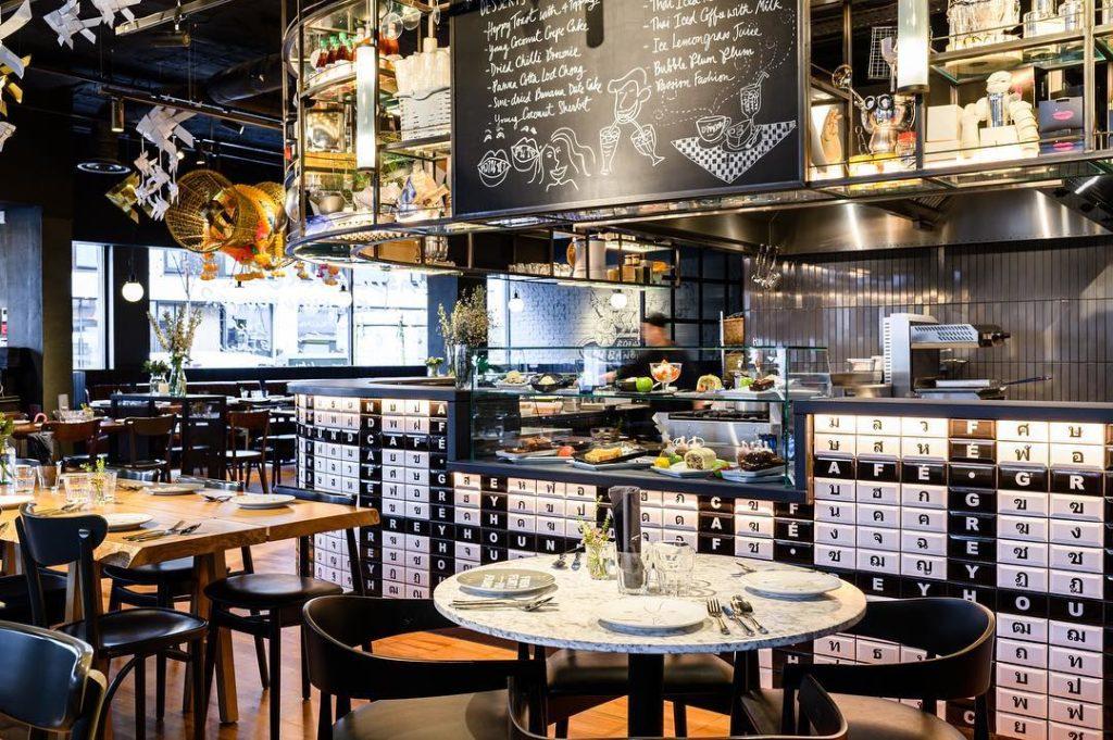 Image représentant l'intérieur du restaurant insolite à Londres : Greyhound Cafe