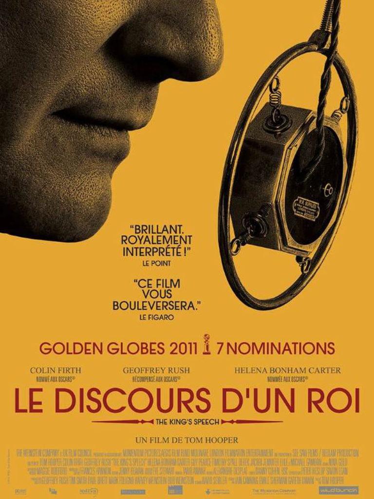 """Affiche du film """"Le discours d'un roi""""."""