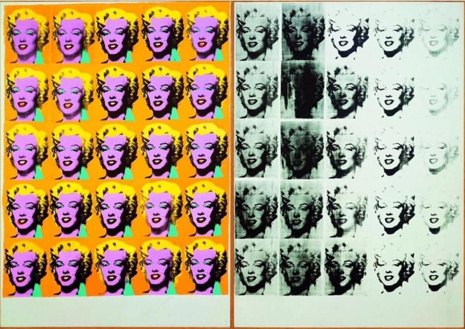 Image représentant Marilyn Monroe peinte par l'artiste Andy Warhol