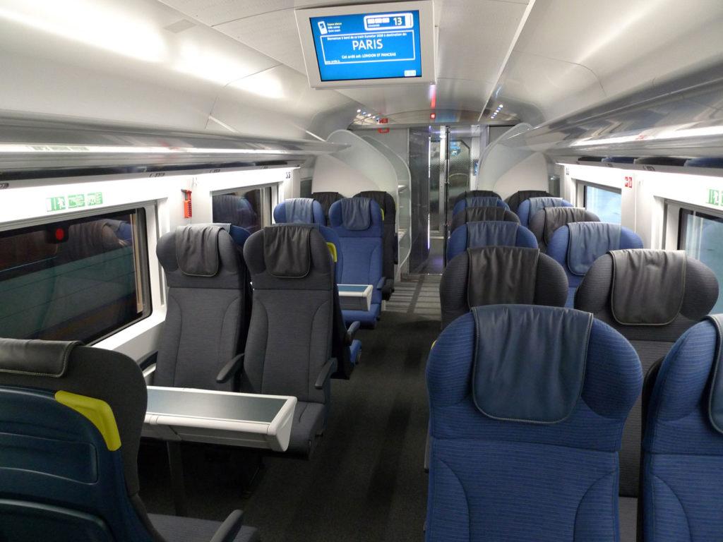 Sièges de la première classe du Snap Eurostar