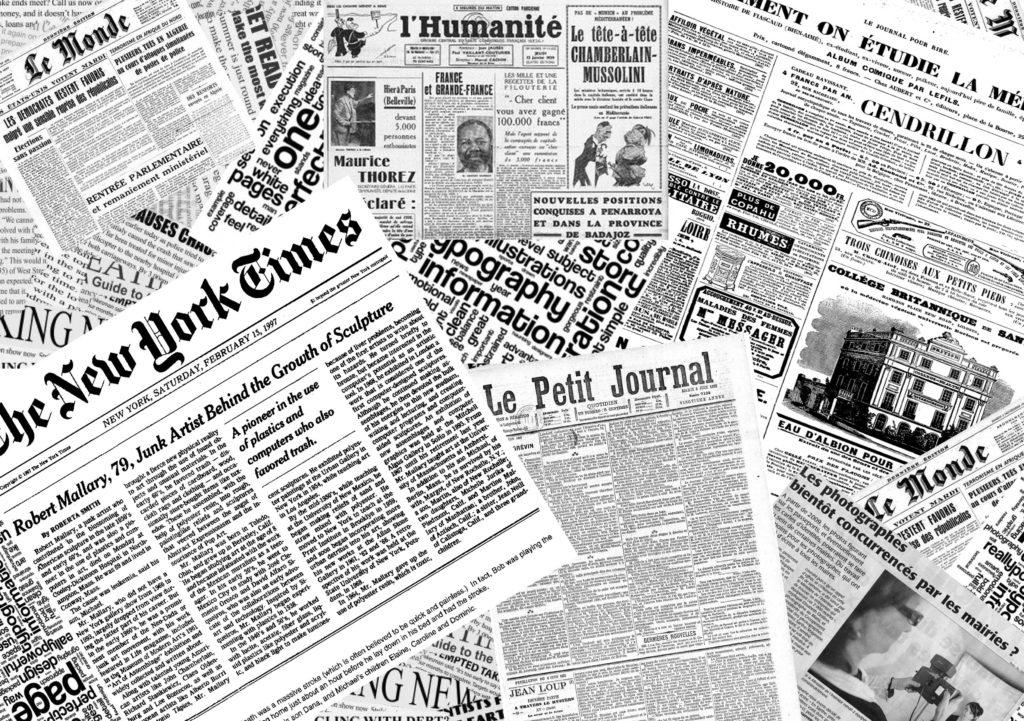 les médias français à Londres journal