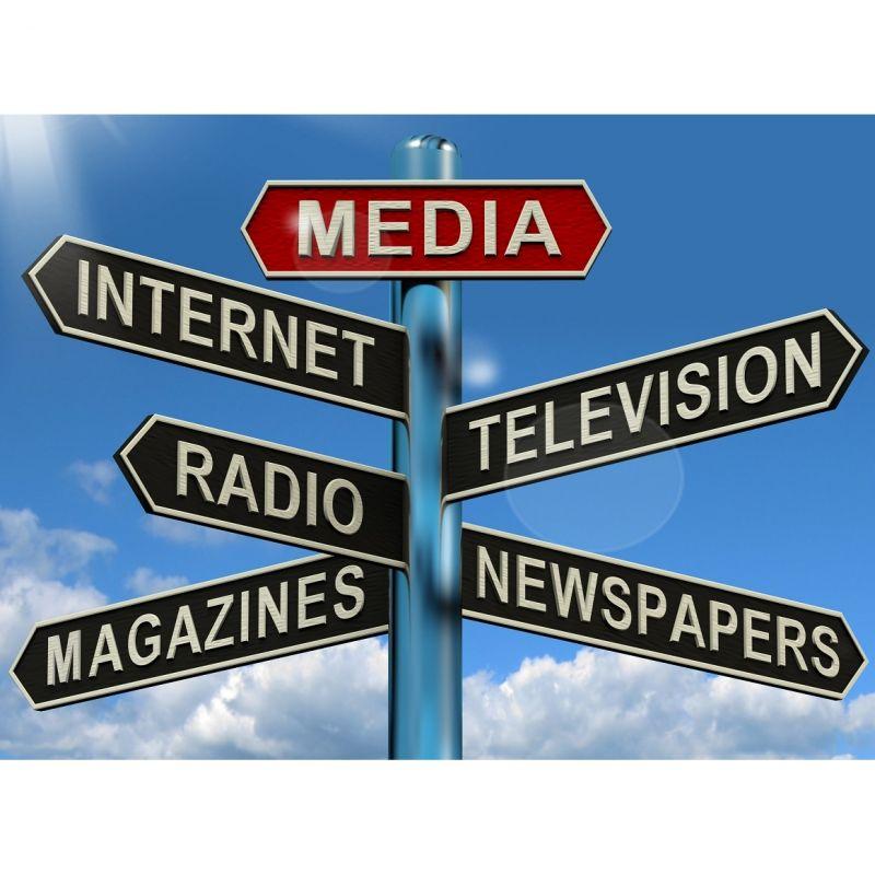 les médias français à Londres sur panneau